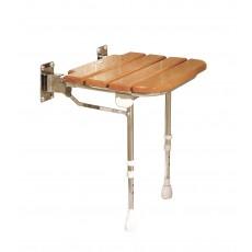 Sedile con doghe in legno senza schienale