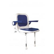 Sedile imbottito con schienale e braccioli