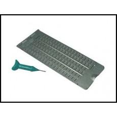 Tavoletta braille 6X19 in alluminio