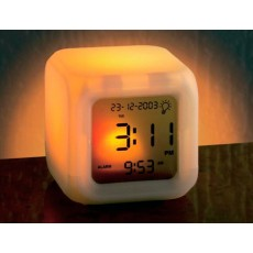 Sveglia parlante cubo con termometro