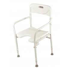 Sedia per doccia chiudibile con braccioli